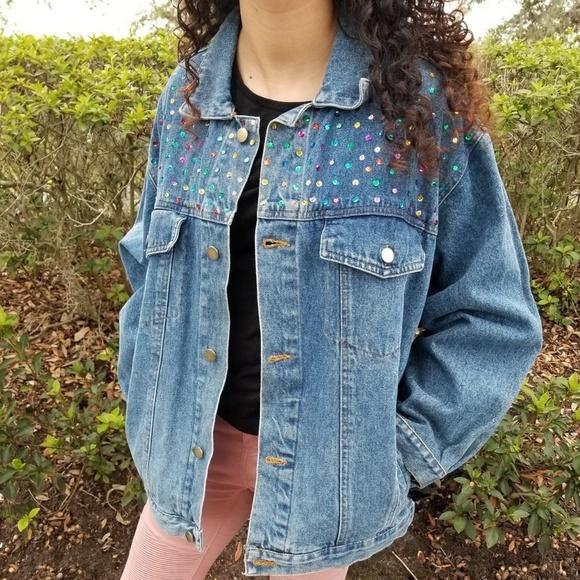 good texture release date: first rate Club Q Jackets & Coats | Rainbow Sequin Denim Jacket | Poshmark
